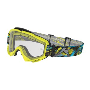 KLiM Radius Moto Goggle - Scarred Voltage Clear
