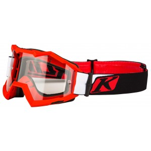 KLiM Viper Off-Road Goggle - Venom Red Clear Lens