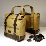 Unit Garage Universal Side Panniers - Beige/Brown